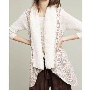 Anthropologie x HeiHei Furry Vest